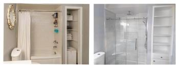 Shower renovation Rushbrook Drive Newmarket