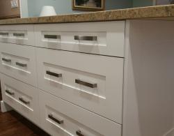 Island providing dining area plus ample storage drawers