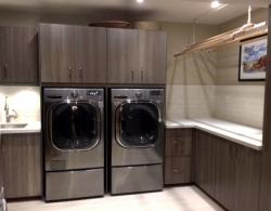 Spacious, Bright, Efficient Laundry Room in Homeowners' Basement