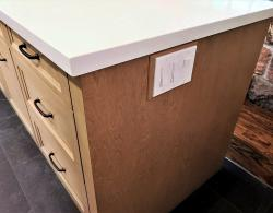Shelburne Buff finish, birch drawers; Brushed oil-rubbed bronze metal pulls