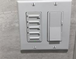 Electronic control for lights and fan @ Kestle Interiors