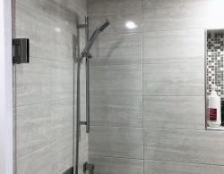 Rainhead showerhead Kestle Interiors design