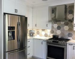 Samsung 3-door, counter-depth, large capacity SS fridge @Kestle Interiors