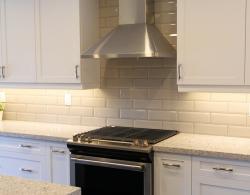 Kobe range hood, wall mount, stainless steel; Kestle Interiors kitchen design Newmarket