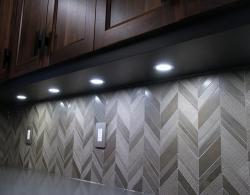 Dark Brown with Gray Back-Splash Sharon Kitchen Designs and Renovations