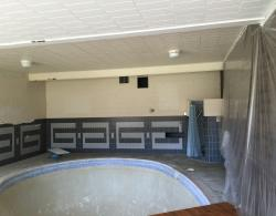 Having completed the kitchen, laundry and family room for these homeowners, we were invited to complete some asthetic features of the pool  room.