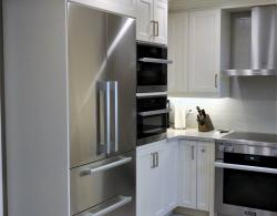 Counter depth for seemless integration, French door, double freezer drawer