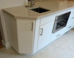 The addition of a prep sink and work surface is perfect for entertaining