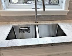 Double-bowl stainless-steel sink,Kestle Interiors