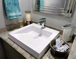 Square vessel sink Newmarket design Kestle Interiors