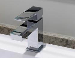 Polished chrome fixtures Newmarket design Kestle Interiors