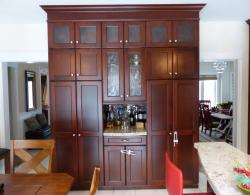 Pantry unit, Shaker-style door in maple with custom stain
