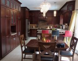 Impressive cabinetry, Shaker-style door in maple with custom stain